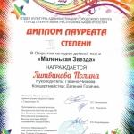 Участие в открытом конкурсе детской песни Маленькая звезда  (1)