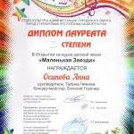 Участие в открытом конкурсе детской песни Маленькая звезда  (11)