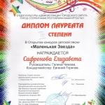 Участие в открытом конкурсе детской песни Маленькая звезда  (3)
