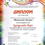 Участие в открытом конкурсе детской песни Маленькая звезда  (4)