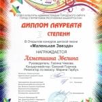 Участие в открытом конкурсе детской песни Маленькая звезда  (5)