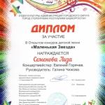 Участие в открытом конкурсе детской песни Маленькая звезда  (9)